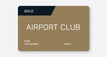 Gold Airport Club Card