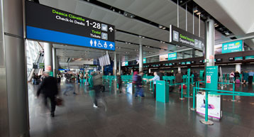 Check in signage aerlingus check in desks Terminal 2