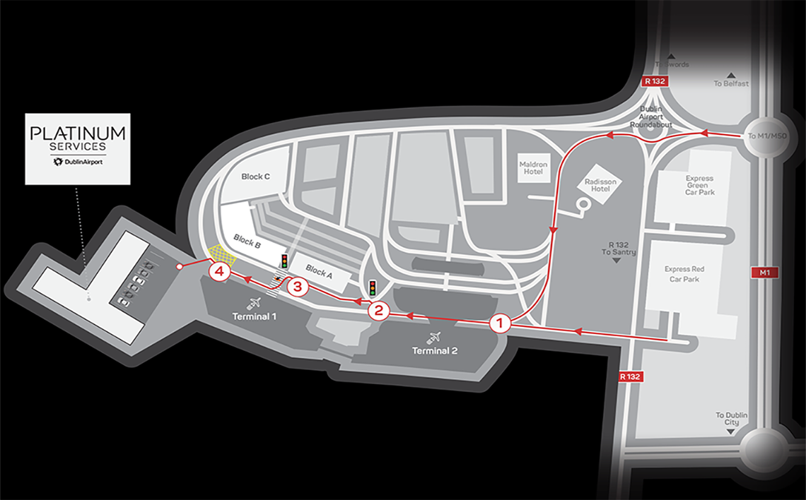 Platinum Services Car Park Map