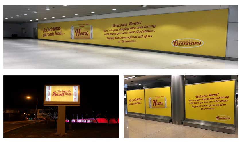 Brennans advertisement outdoor dublin airport